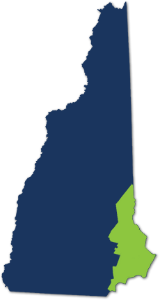 An illustration showing the location of this geographic region